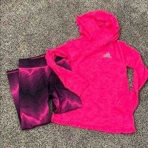 Girls Adidas athletic set
